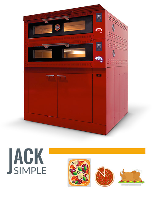 forno professionale made in Italy Jack Simple